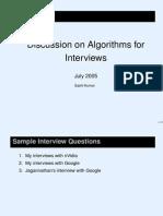 Algorithm Interview Slides