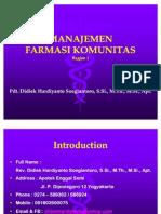 Bahan Kuliah Manajemen Farmasi Komunitas