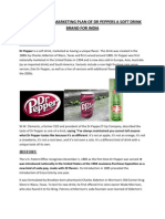 International Marketing Plan of Dr Peppers a Soft Drink Brand for India