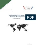 EconomyPolitics 3rd annual index of  Economic Efficiency of the World
