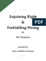 Enjoining Right and Forbidding Wrong-Shaykhul Islam Ibn Taymiyyah-www.islamicgazette.com