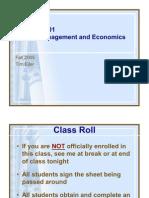PM and Engineering Economics