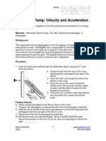 Velocity and Acceleration lab result (car ramp)