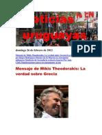 Noticias Uruguayas Domingo 26 de Febrero de 2012