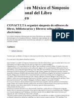 Simposio Del Libro Electronico en Mexico 2011