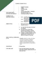 # Sample Lesson Plan English Primary School