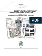 Statewide Seismic Needs Assessment report