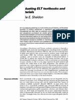 Leslie Sheldon-evaluating Elt Textbooks and Materials