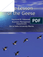 Lesson of the Geese-Intro to POLC