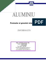 ALUMINIU - Formate Si Grosimi Standard