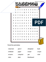 Classroom Word Search