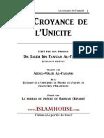 Fr-Islamhouse-Croyance de Lunicite Fawzan