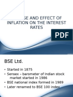 Bse,Nse and Effect of Inflation on The