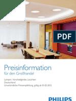 Philips_Preisinformation_Großhandel_Lampen_Vorschaltgeraete_Leuchten_Deutschland_UVPE_2012