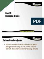 Spi396 Slide Bab 13 Rencana Bisnis