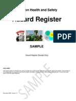 Hazard Register