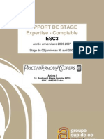 Rapport de Stage PWC