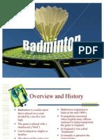 BADMINTON Power Point Presentation