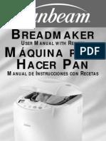 Sunbeam Bread Maker Manual