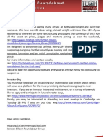 London Silicon Roundabout Weekly Newsletter 24-FEB-2012
