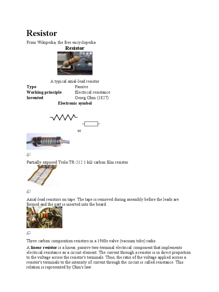 Materi Dian Resistor Capacitor Electronic Symbol Wikipedia The Free Encyclopedia