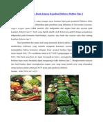 Diet Sayur Dan Buah Dengan Kejadian Diabetes Melitus Tipe 2