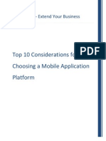 Top 10 Considerations for Choosing a Mobile Application Platform
