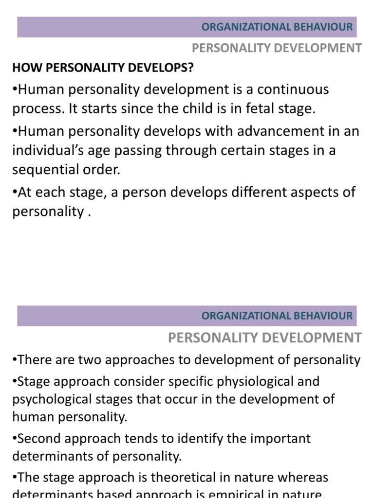 human personality development