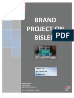 Brand Project on Bisleri- Puja Pallavi(10bsphh010573) Section- c