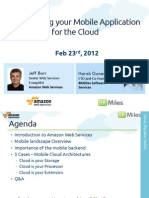 Mobile Cloud Computing Architectures using AWS