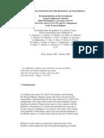 Bulgarian Policies on the Republic of Macedonia