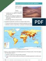 8ºano.FICHA 1- Distribuição e Evolução da População Mundial