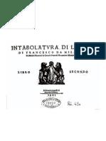 Francesco da Milano - Intabolatura di liuto - Libro Secondo
