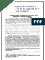In Emergency Fundamental Rights