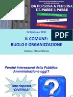 Il Comune Ruolo e Organizzazione