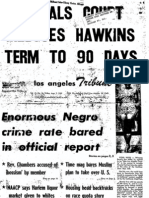 """Los Angles Tribute from Aug. 7, 1959, in re Mike Wallace the Nation of Islam and """"The Moslem Brotherhood, USA"""" (pp. 3 and 4)"""