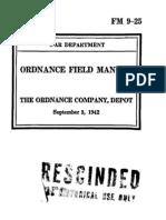 24564888 Fm 9 25 the Ordnance Company Depot 1942