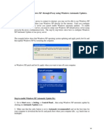 Enable Update Windows XP & 7 Through Proxy