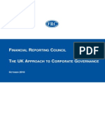 UK Approach to Corporate Governance Oct 20101