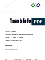 Cour de Travaux de Fin Dexercice