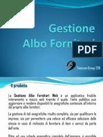 Presentazione Gestione Albo Fornitori Web