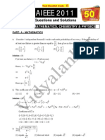 AIEEE 2011 Paper and Solution
