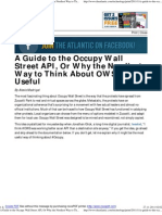 A Guide to the Occupy Wall Street API, Or Why the Nerdiest Way to Think About OWS is So Useful - Technology