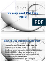 Pi Day and Phi Day 2012