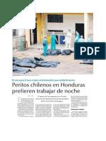 Peritos chilenos en Honduras prefieren trabajar de noche - LUN