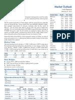 Market Outlook 27th February 2012