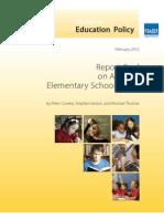 Fraser Institute's Report Card on Alberta's Elementary Schools 2012