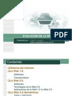 Definicion y Caracteristicas de WEB 10, 20, 30 Sus y Aplicaciones RIA
