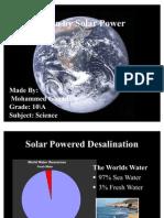 Biology Project Solar Powered Desalination_final