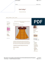 Anarkali Dress Top With Panels